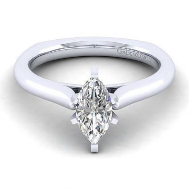Gabriel & Co 14K White Gold Allie Solitaire Diamond Engagement Ring