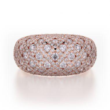 Michael M 18k Gold Rose Diamond Ring
