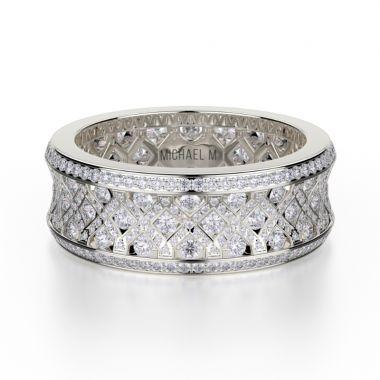 Michael M 18k Gold White Diamond Ring