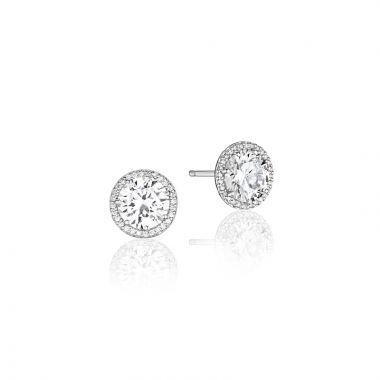 Tacori 18k White Gold Tacori Diamond Jewelry Drop Earring
