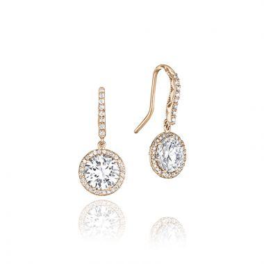 Tacori 18k Rose Gold Tacori Diamond Jewelry Drop Earring