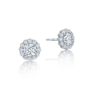Tacori 18k White Gold Tacori Diamond Jewelry Drop Earring