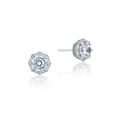 Tacori Platinum White Tacori Diamond Jewelry Stud Earring