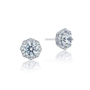 Tacori 18k White Gold Tacori Diamond Jewelry Stud Earring