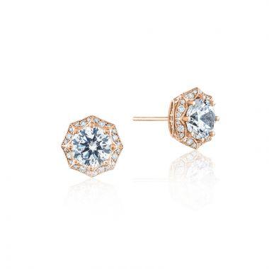 Tacori 18k Rose Gold Tacori Diamond Jewelry Stud Earring