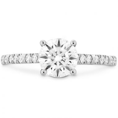 Hearts on Fire 18k White Gold Cali Chic Diamond Straight Engagement Ring