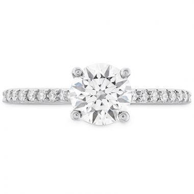 Hearts on Fire 18k White Gold Camilla Diamond Straight Engagement Ring