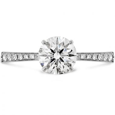 Hearts on Fire 18k White Gold Signature Diamond Straight Engagement Ring
