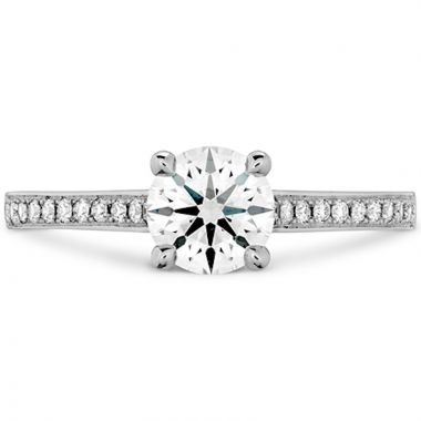 Hearts on Fire 18k White Gold Illustrious Diamond Straight Engagement Ring