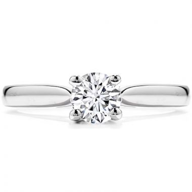 Hearts on Fire 18k White Gold Purely Bridal Diamond Solitaire Engagement Ring