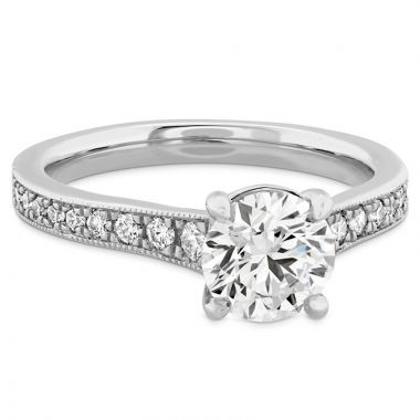 Hearts on Fire 18k White Gold Liliana Diamond Straight Engagement Ring