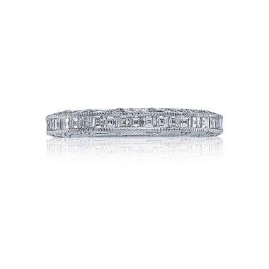 Tacori Platinum Reverse Crescent Diamond Wedding Band