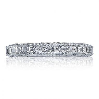 Tacori Platinum Reverse Crescent Anniversary Diamond Women's Wedding Band