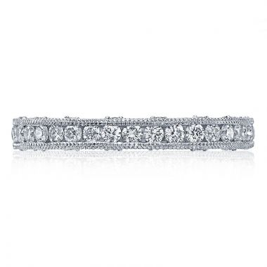 Tacori Platinum Reverse Crescent Eternity Diamond Women's Wedding Band