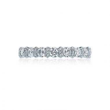 Tacori Platinum Classic Crescent Eternity Wedding Band