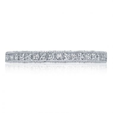 Tacori 18k White Gold Blooming Beauties Anniversary Diamond Women's Wedding Band
