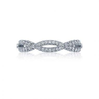 Tacori Platinum Ribbon Twist Wedding Band
