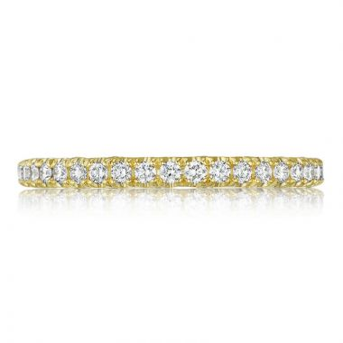 Tacori 18k Yellow Gold Petite Crescent Anniversary Diamond Women's Wedding Band