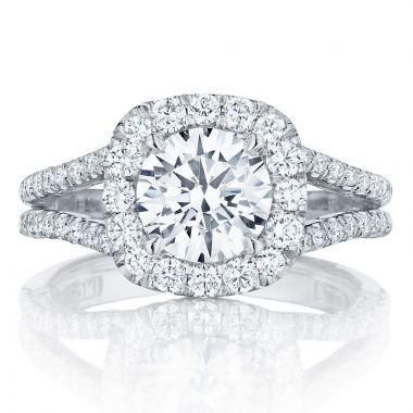 Tacori Platinum Petite Crescent Split Shank Diamond Engagement Ring