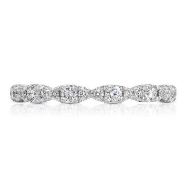 Tacori Platinum Petite Crescent Eternity Diamond Women's Wedding Band