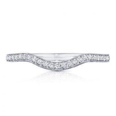 Tacori Platinum Classic Crescent Diamond Curved Women's Wedding Band