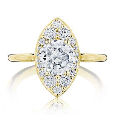 Tacori 18k Yellow Gold INFLORI Halo Diamond Engagement Ring