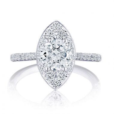 Tacori Platinum INFLORI Halo Diamond Engagement Ring
