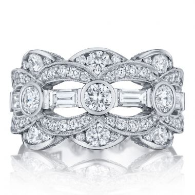 Tacori Platinum Adoration Anniversary Diamond Women's Wedding Band