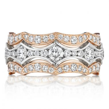 Tacori 18k Rose Gold Adoration Anniversary Diamond Women's Wedding Band