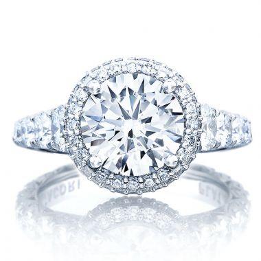 Tacori Platinum RoyalT Halo Diamond Engagement Ring