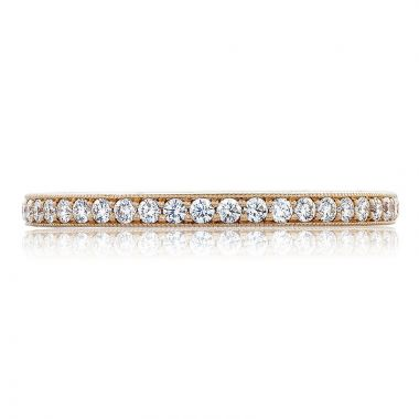 Tacori 18k Rose Gold RoyalT Anniversary Diamond Women's Wedding Band