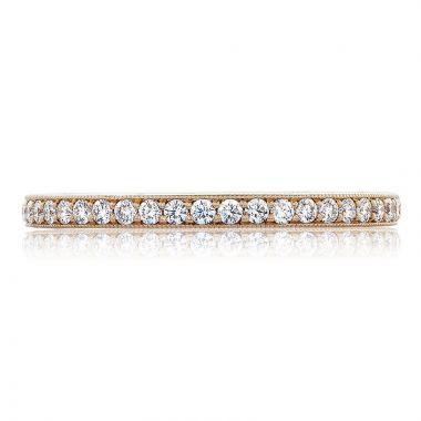 Tacori 18k Rose Gold RoyalT Anniversary Diamond Women's Wedding Band