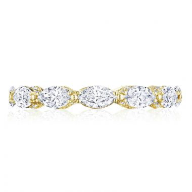 Tacori 18k White Gold RoyalT Eternity Diamond Women's Wedding Band