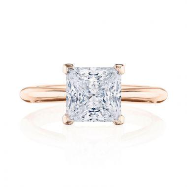 Tacori 18k Rose Gold RoyalT Solitaire Diamond Engagement Ring
