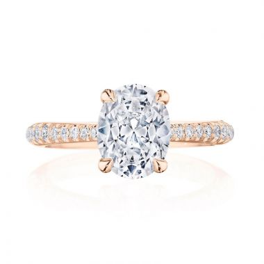 Tacori 18k Rose Gold RoyalT Straight Diamond Engagement Ring