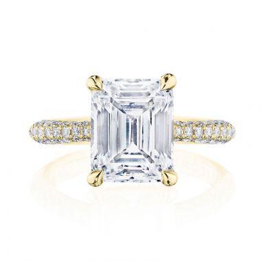 Tacori 18k Yellow Gold RoyalT Straight Diamond Engagement Ring