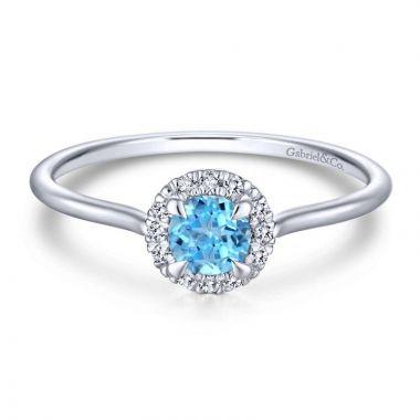 Gabriel & Co. 14k White Gold Lusso Color Diamond Ring