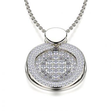 Michael M 18k Gold White Diamond Pendant