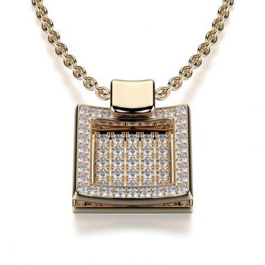 Michael M 18k Gold Yellow Diamond Pendant