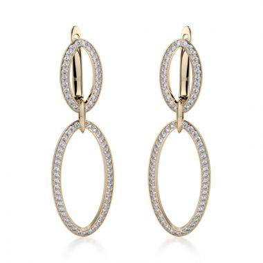 Michael M 14k Yellow Gold Diamond Drop Earrings