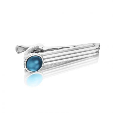 Tacori Sterling Silver Monterey Roadster Gemstone Men's Tie Bar