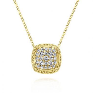 Gabriel & Co. 14k Yellow Gold Hampton Diamond Necklace