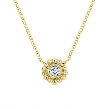 Gabriel & Co. 14k Yellow Gold Bujukan Diamond Necklace