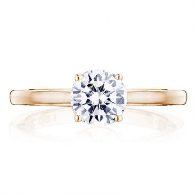 Tacori 14k Rose Gold Coastal Crescent Solitaire Diamond Engagement Ring
