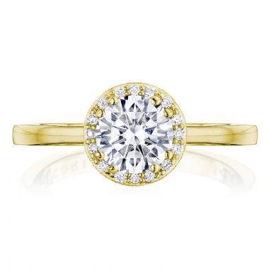 Tacori 14k Yellow Gold Coastal Crescent Halo Diamond Engagement Ring