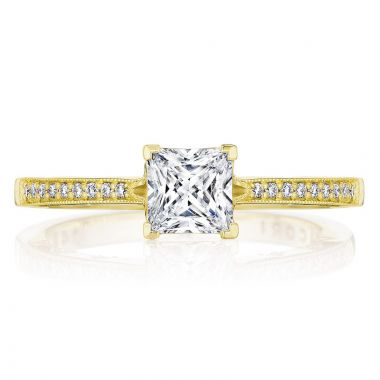 Tacori 14k Yellow Gold Coastal Crescent Straight Diamond Engagement Ring