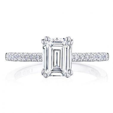 Tacori 14k White Gold Coastal Crescent Straight Diamond Engagement Ring
