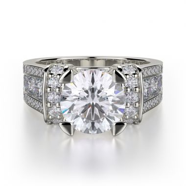 Michael M 18k White Gold Strada Engagement Ring
