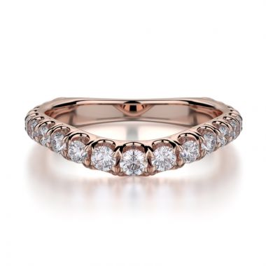 Michael M 18k Rose Gold Diamond Wedding Band
