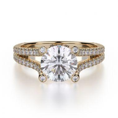 Michael M 18k Yellow Gold Europa Engagement Ring
